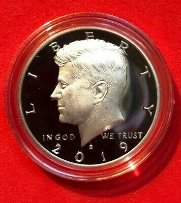 2019 S Silver 99.9% Kennedy Half Dollar Deep Cameo Gem Proof In Capsule ON HAND