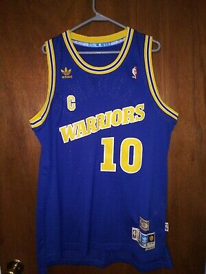 d74514180 Tim Hardaway 1990-91 Golden State Warriors Authentic Adidas NBA Jersey  Adult XL