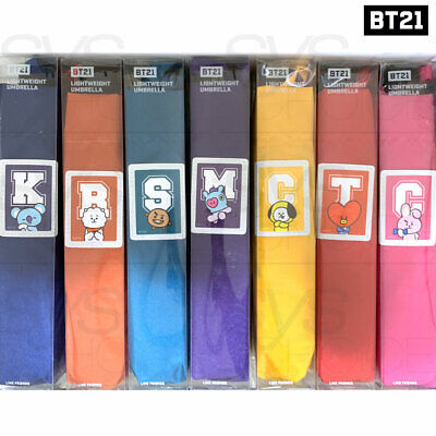 BTS BT21 Official Authentic Goods Light Weight Umbrella 7Characters By Monopoly