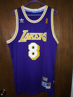 c1f9629294d4 Kobe Bryant 1996-97 Los Angeles Lakers Authentic Adidas Rookie Jersey Adult  XL