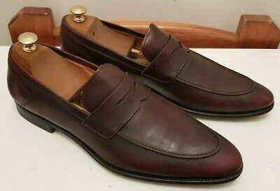 44 Patine Versace Luxe Taille10 £ 590 Mocassin Homme Rouge Chaussures uPkZTXOi