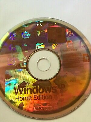 Microsoft Windows XP Home Edition Version 2002 Service Pack 1a CD sans Clé Code