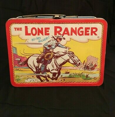 1954 Adco Liberty Blue Band Lone Ranger Metal Lunchbox