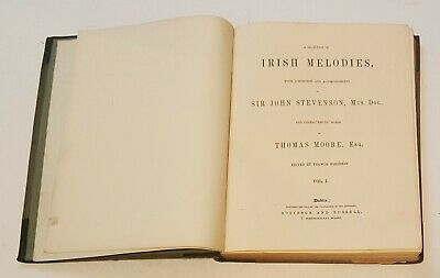 Irish Melodies book late 19th or early 20th century