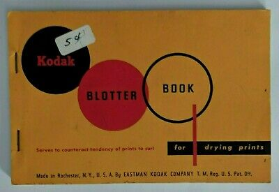 Vintage Kodak Photographic Blotter Book for Drying Prints and Resin Coated Paper