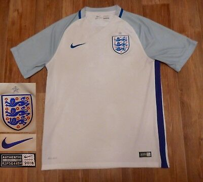2fa3328ee43 Official Nike England 2016/2017 Home Football Soccer Jersey Trikot Shirt  Size M
