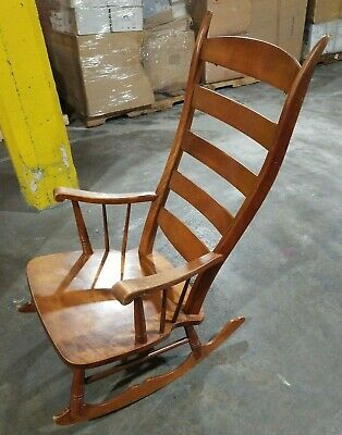 Classic Vintage Low setting High back Wood Rocking Chair