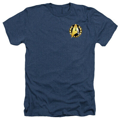 Star Trek Heather T-Shirt Discovery Admiral Badge Navy Tee