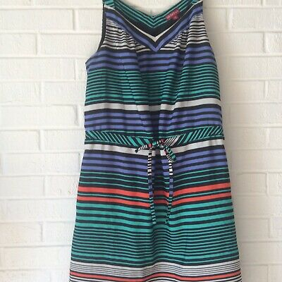 973ff56fc0 MERONA WOMAN'S DRESS Size 8 Blues Stripped Tank - $8.25 | PicClick