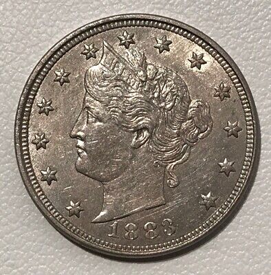 1883 No Cents Philadelphia Mint Liberty Nickel With Luster