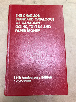 Charlton Catalogue 1952-1988 of Canadian Coins, Tokens, Paper Money 36th SIGNED