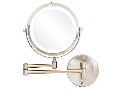 """Rucci Wall Mount LED Lighted Makeup Mirror,10x/1x Magnification,7"""" M1002"""