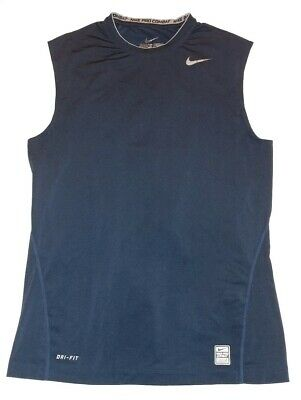 1595da9a NIKE PRO COMBAT DRI-FIT SLEEVELESS NAVY Compression shirt MEN'S MEDIUM