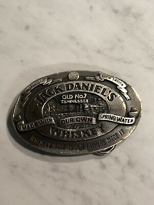Vintage Jack Daniels Whiskey Brass Belt Buckle Made In The U.S.A.