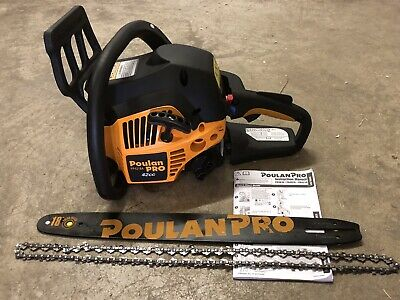 "Poulan Pro 18"" 42CC 2 Cycle Gas Powered Chainsaw Model PP4218A Chain,Manual,Key"