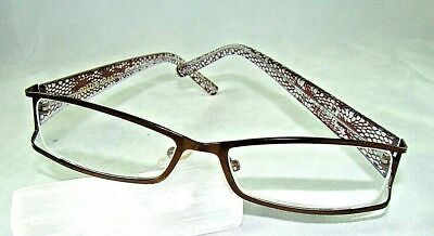 Foster Grant Reading Glasses  Leelah Brown, Copper, Pink/ Purples  52- 16 - 139