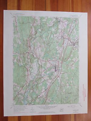 Plainfield Connecticut 1971 Original Vintage USGS Topo Map