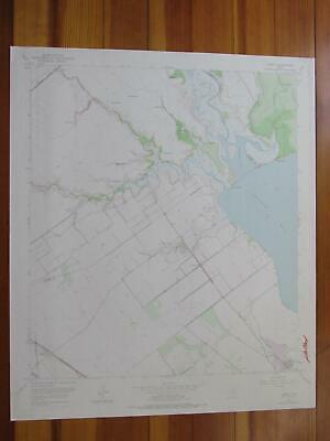 Kamey Texas 1976 Original Vintage USGS Topo Map
