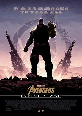 BRAND NEW OFFICIAL Thanos Avengers Infinity War Poster Cinema Marvel End Game