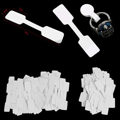 50/100Pcs Blank price tags necklace ring jewelry labels paper stickers Au