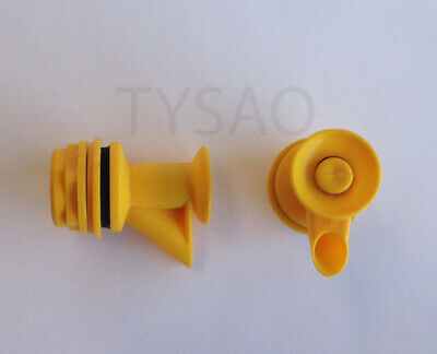 Lot of 2 - Hot & Cold Water Cooler Dispencer Faucet / Valve / Spigot - Yellow