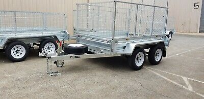 8x5 Tandem Trailer Galvanised Gage Fully Welded Heavy Duty New 2000kgs ATM 600mm