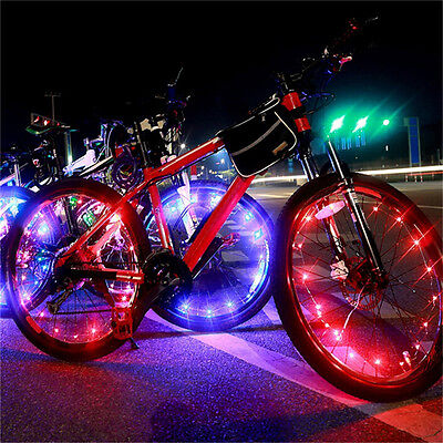 Waterproof Colorful 20 LED Bicycle Lights Bike Lamp Cycling Wheel Spoke Light OS