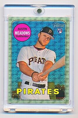 2018 Topps Heritage Austin Meadows PIRATES Gold Superfractor RC True 1/1 MINT 🔥