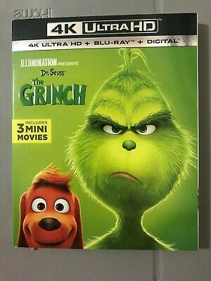 The Grinch 4K UHD Blu-Ray + Blu-Ray with Slipcover
