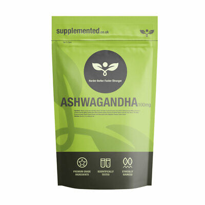 Ashwagandha 1000mg Comprimés Énergie ✔ UK Made ✔ Lettres Amical