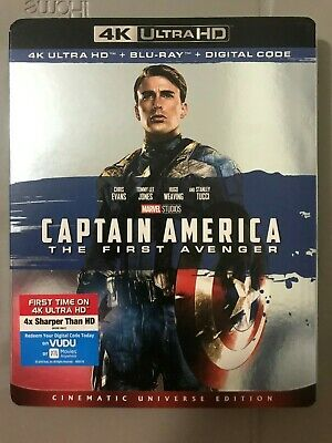 Captain America First Avenger 4K UHD Blu-Ray + Blu-Ray with Slipcover