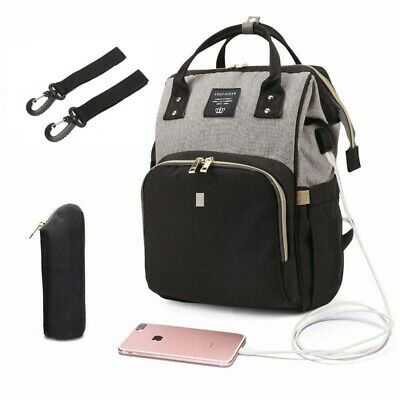 USB Interface Maternity Diaper Bag Mom Backpack Large Capacity Baby Nursing Bag