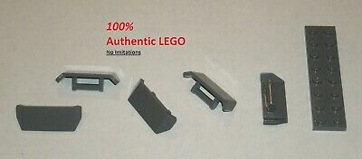 Plate 1 x 1 with Clip Vertical Type 4 in Dk Stone Grey part no 60897 12x Lego