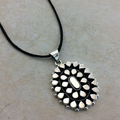 925 STERLING SILVER LARGE OXIDIZED MOSAIC STATEMENT PENDANT 27 GRS |Mexican