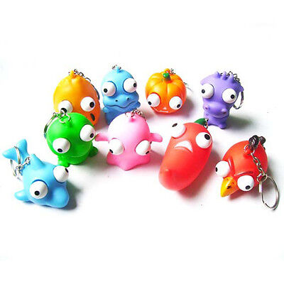 1X Raised Eyes Doll Anti Stress Ball Vent Animal Keychain Squeezing Toys A AA