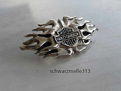 Harley  Davidson  Bar & Shield Flame Original Us Pin  Neu