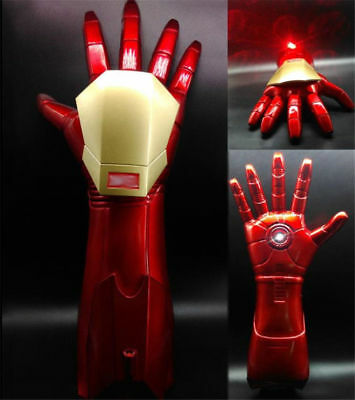 The Avengers Iron Man 1:1 Stark Updated Glove LED Light Hand With Laser Cos Prop