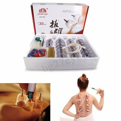 32 Cups Massage Cupping Set Slimming Body Massage Medical Chinese Vacuum  new