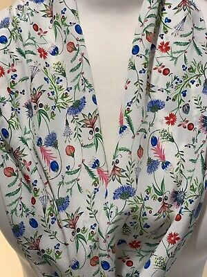 Silk Scarf handcrafted with Liberty Of London Garden Temptation Crepe De Chine