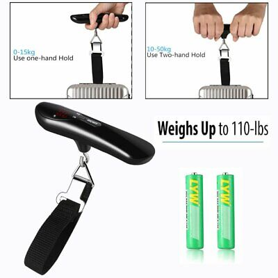50kg/10g Travel LCD Digital Hanging Luggage Scale Electronic Weight Tool BR