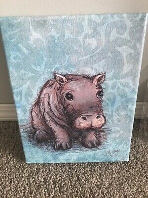Painting: Hippo and His Mommy 2/50 by Jennifer Dale Stables