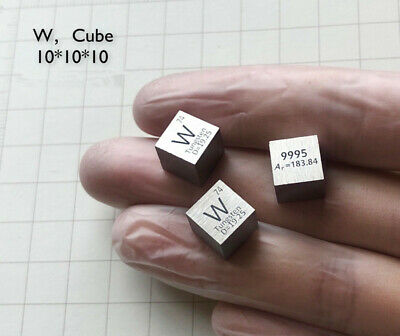 1pcs High Purity 99.95% Tungsten W Metal Element Periodic Table Cube 10mm 19.25g