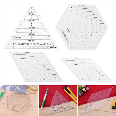 Transparent Acrylic Patchwork Ruler Quilting Rule Cloth Yardstick Sewing Tool ~