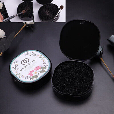Black Makeup Brush Clean Eye Shadow Sponge Cleaner Make Up Brushes Tool Box