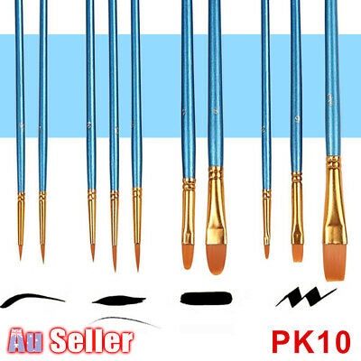 Artist Acrylic Paints Paint Brushes Set Face Kit Watercolour Oil Painting Craft
