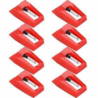 8Pcs Diamond Replacement Stylus Player Needle For LP Turntable Phonograph New