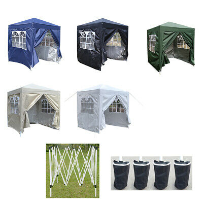 Panana 2x2m Waterproof Pop Up Gazebo Marquee Canopy Awning Party Tent 4 Sides