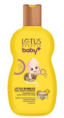 Lotus Herbals Baby+ Little Bubbles Body Wash and Shampoo, 200ml