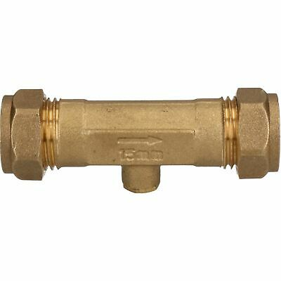 15mm Brass Double Check Valve One-Way Non-Return Compression Fittings WRAS