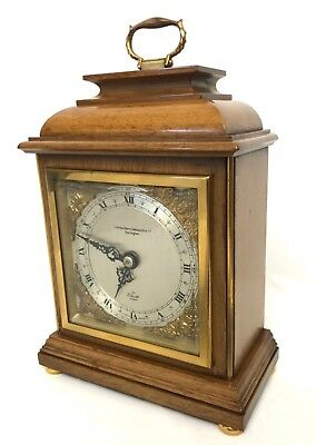 ELLIOTT LONDON Mahogany Bracket Mantel Clock NORTHERN GOLDSMITH CO DARLINGTON
